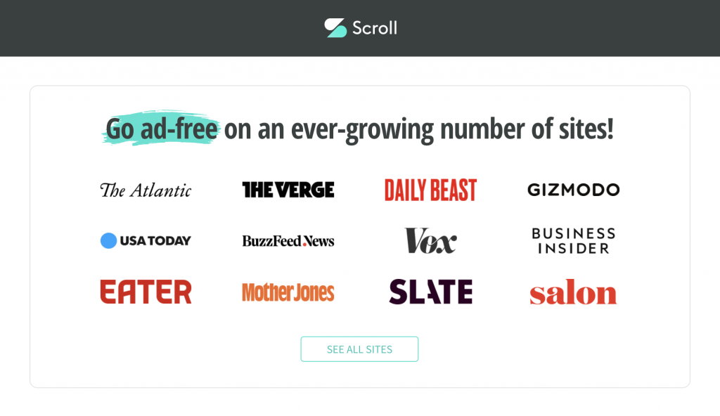 Scroll subscription