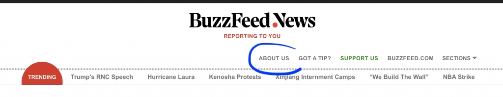 BuzzFeed News - page à propos