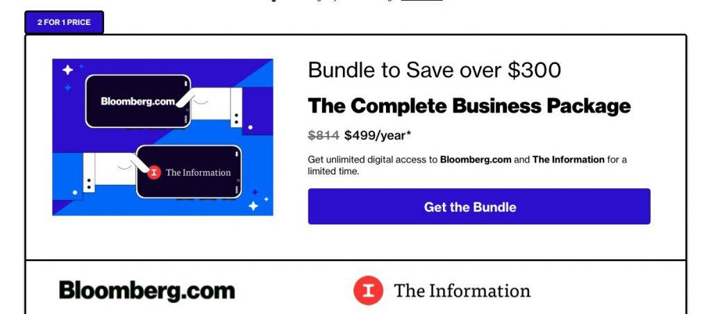 Bundle Bloomberg The Information