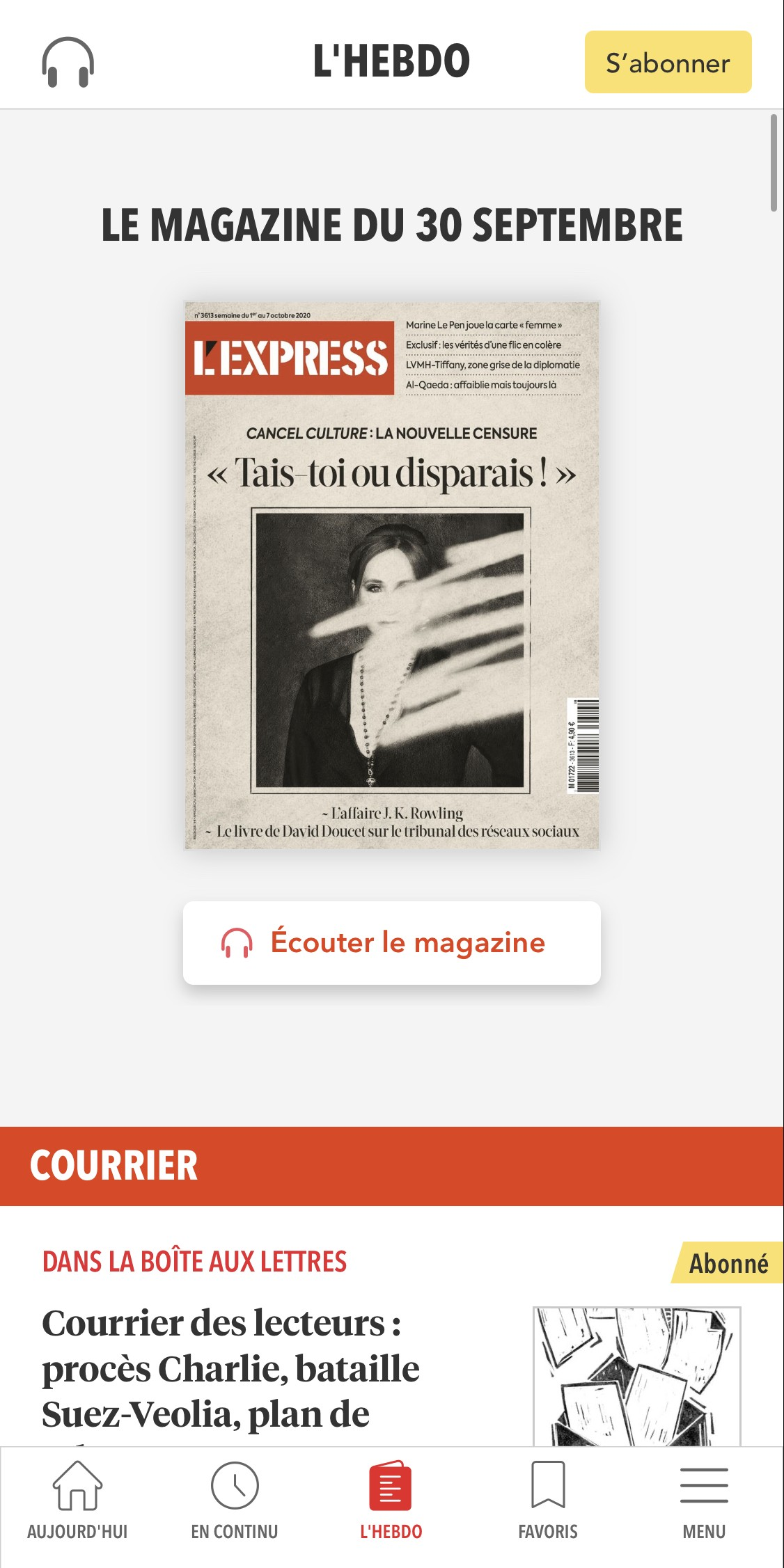 L'Express - application mobile